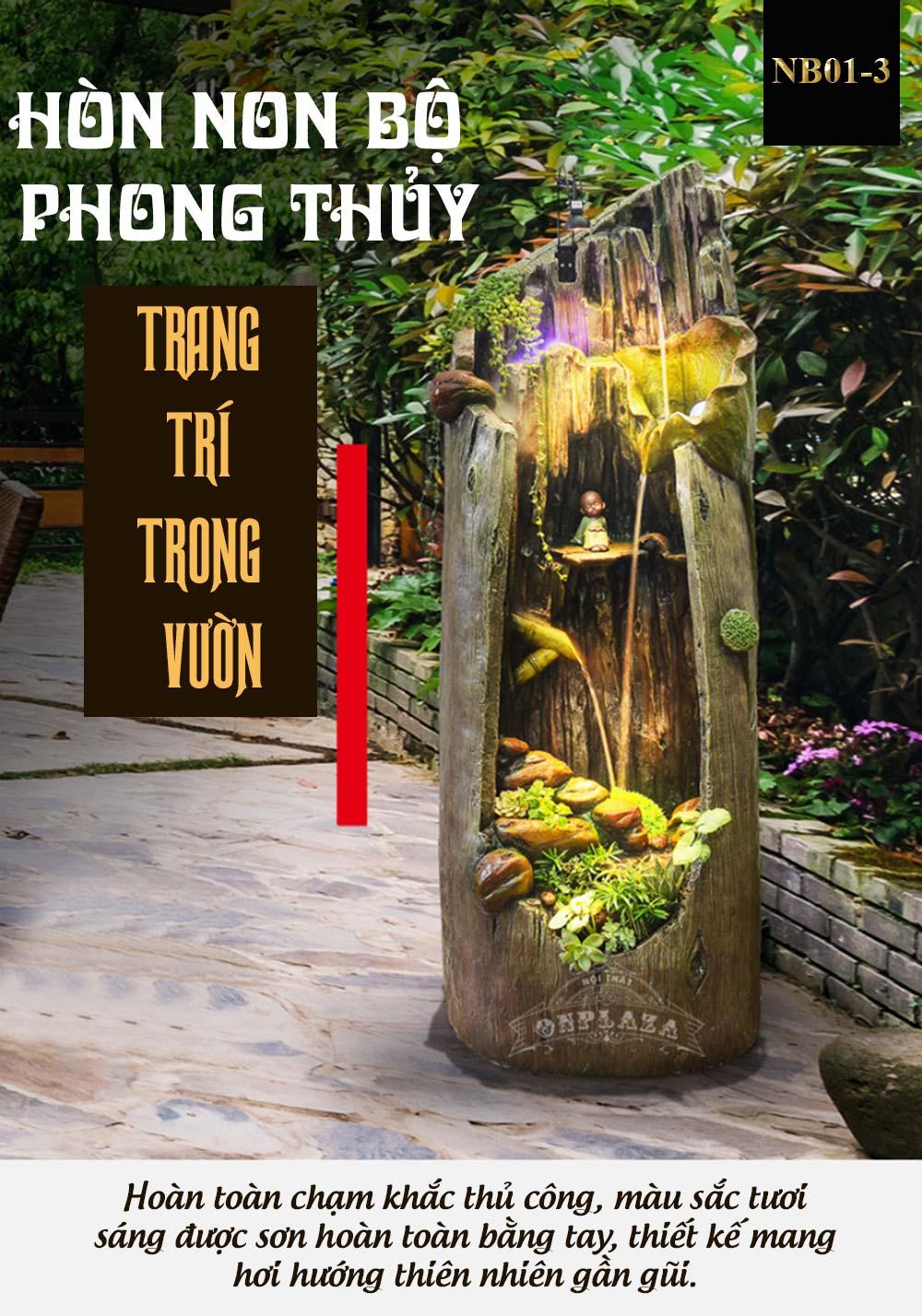 Tiểu Cảnh Thác Nước Phong Thủy Đặt Phòng Khách NB01