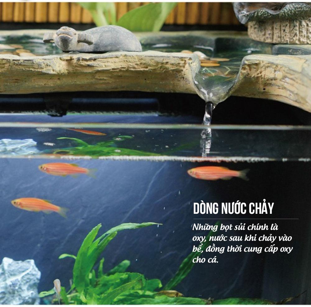 Bể cá thủy sinh trang trí phòng khách cao cấp NB10
