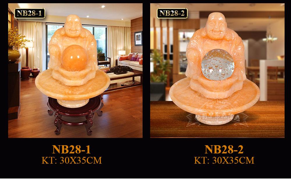 Phật Di lặc bên quả cầu phong thủy chiêu tài lộc NB28