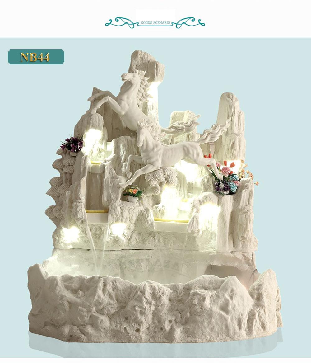Đài phun nước họa tiết tuấn mã truy phong phong cách Châu Âu NB44