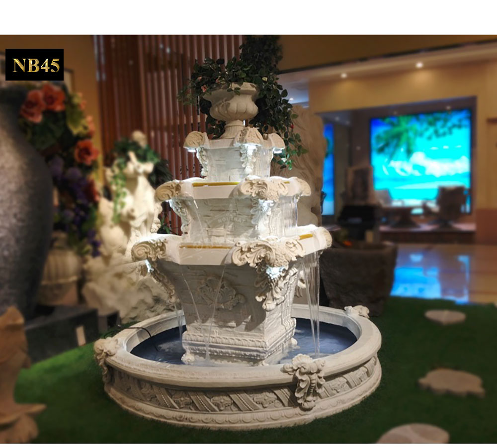 Đài phun nước phong thủy chạm khắc phong cách Châu Âu NB45