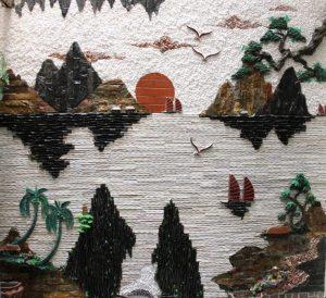 Tranh tiểu cảnh ốp tường trong phong thủy
