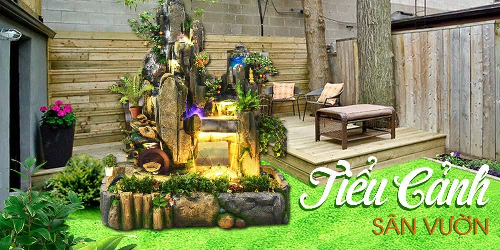 Các mẫu tiểu cảnh sân vườn hiện nay ngày càng được sử dụng phổ biến