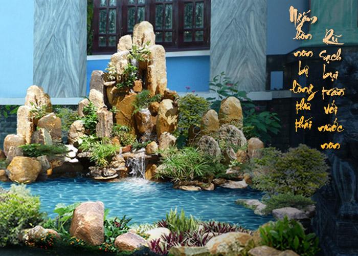 Trong kiến trúc của người Việt non bộ là hình ảnh cao sang, trân quý