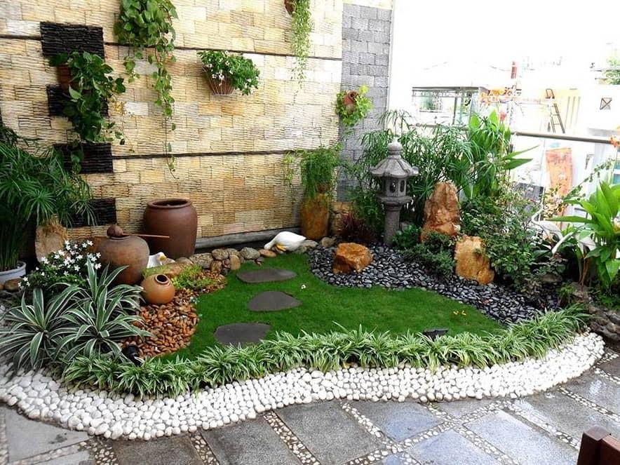 Tiểu cảnh sân vườn nhỏ