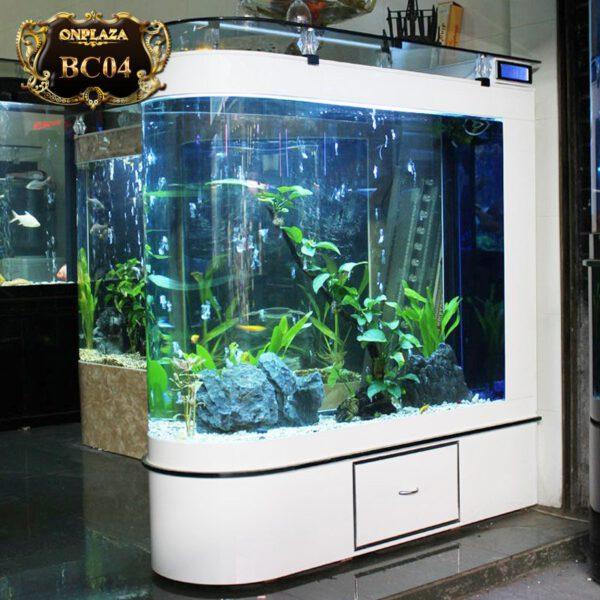 Bể cá đặt trong nhà cao cấp cực đẹp BC04