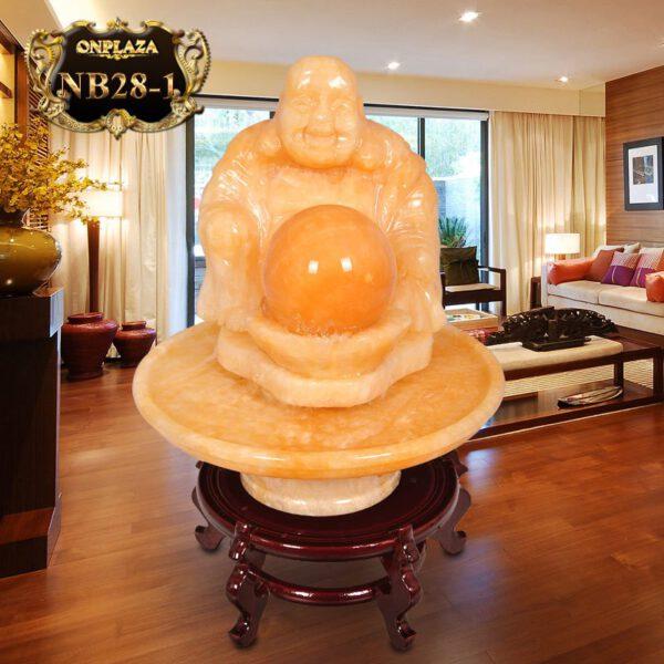 Phật Di lặc bên quả cầu phong thủy chiêu tài lộc NB28-1
