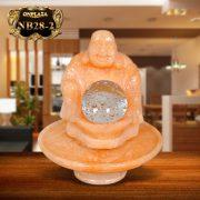 Phật Di lặc bên quả cầu phong thủy chiêu tài lộc NB28-2