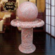Quả cầu phong thủy đá cẩm thạch vân ánh hồng cao cấp NB41