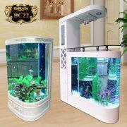 Bể cá thủy sinh cao cấp chạm hoa văn đẹp BC22