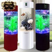 Bể cá cảnh mini có đèn led kèm bộ lọc cao cấp (bộ lọc dưới) BC24