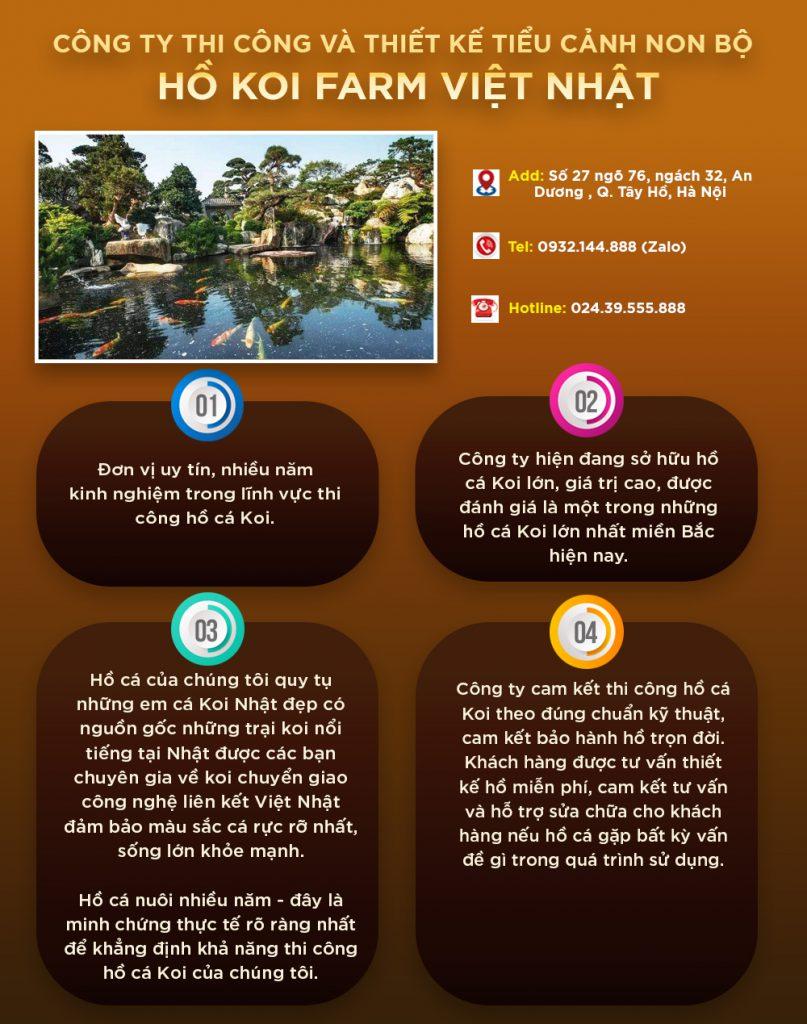 Thông tin về địa chỉ và dịch vụ Hồ Koi Farm Việt Nhật