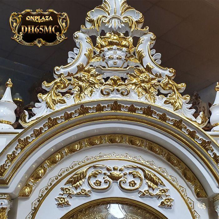 Đồng hồ cây gỗ hương DH65 mạ vàng 24k tân cổ điển máy đại 3