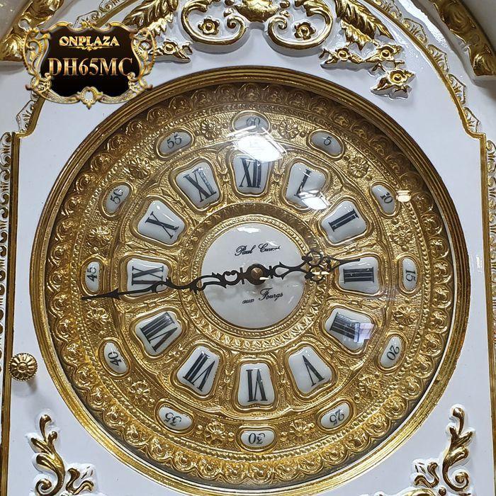 Đồng hồ cây gỗ hương DH65 mạ vàng 24k tân cổ điển máy đại 4