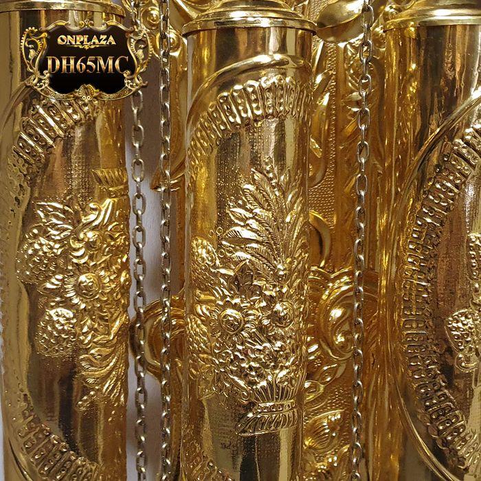 Đồng hồ cây gỗ hương DH65 mạ vàng 24k tân cổ điển máy đại 6