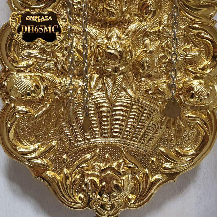 Đồng hồ cây gỗ hương DH65 mạ vàng 24k tân cổ điển máy đại 7