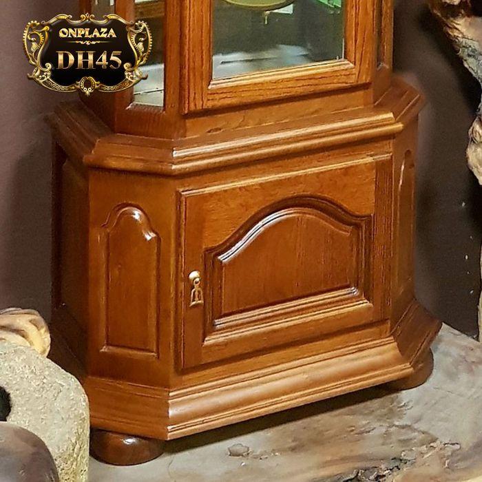 Đồng hồ thùng tây máy cơ mặt trăng gỗ sồi mỹ DH45 5