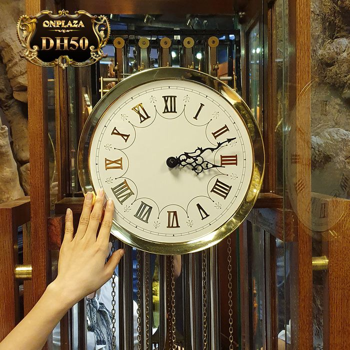 Đồng hồ tủ sáo DH50 9 ống chơi 3 bản melody hiệu Hermle 3